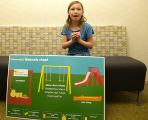 "CEO Kylee pitches her startup ""Tomorrow's Lemonade Stand"""