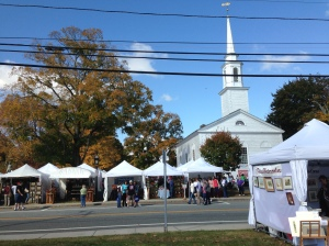 View of the Congregational Church that started the festival in 1967.